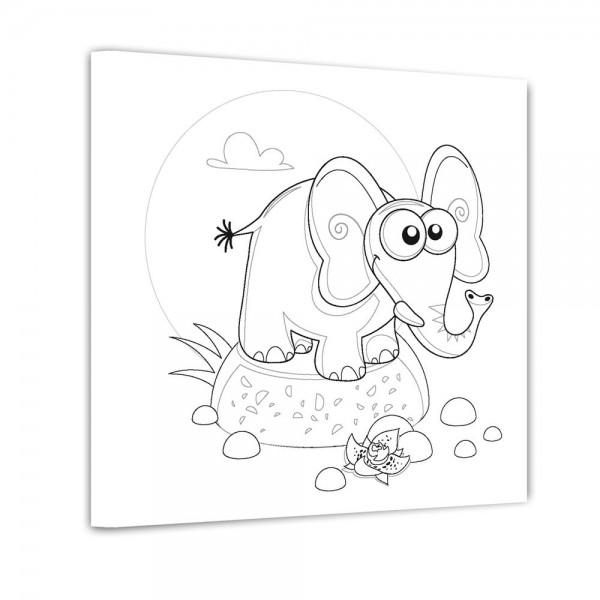 Elefant - Ausmalbild
