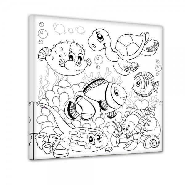 Unterwassertiere II - Ausmalbild