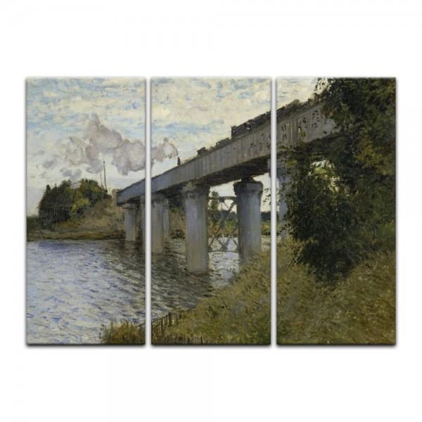 Leinwandbild - Claude Monet - Die Eisenbahnbrücke von Argenteuil