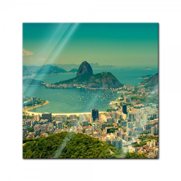 Glasbild - Rio De Janeiro - Berg Corcovado