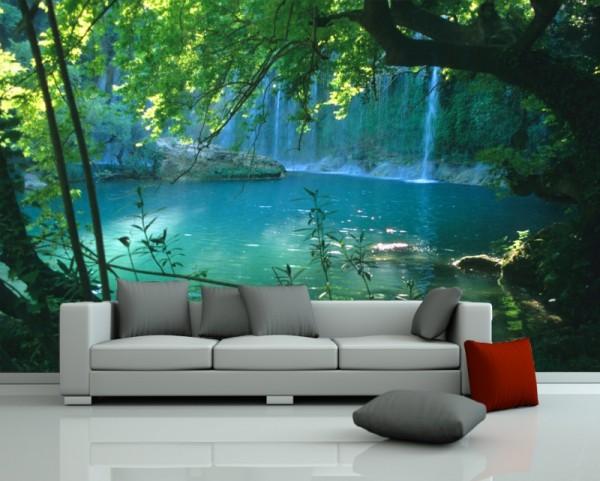 Fototapete - Kursunlu Wasserfälle - Türkei