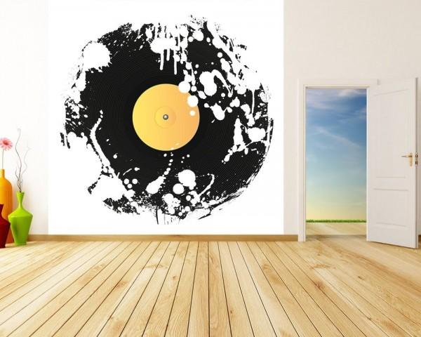 Fototapete Grunge Schallplatte