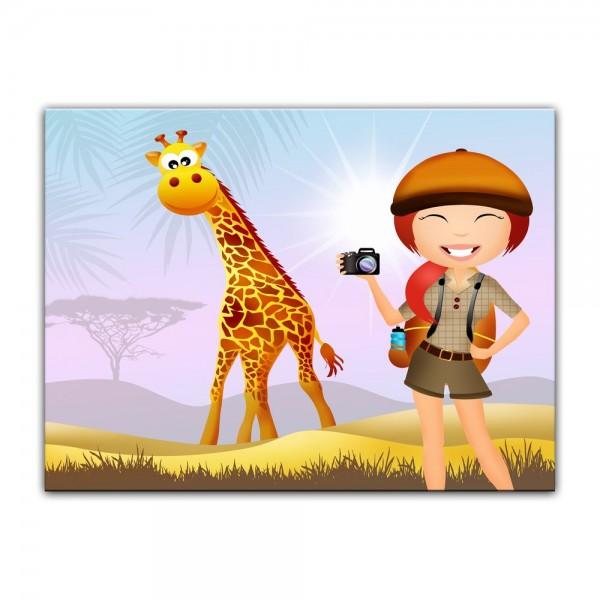Leinwandbild - Kinderbild - Safari