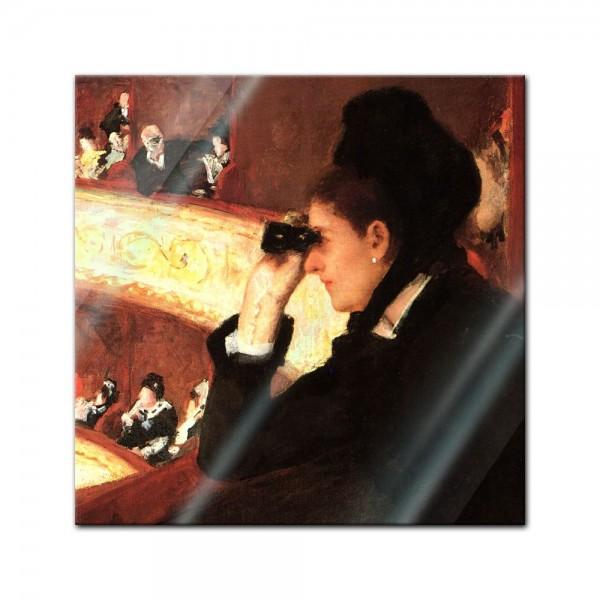 Glasbild Mary Cassatt - Alte Meister - In der Oper