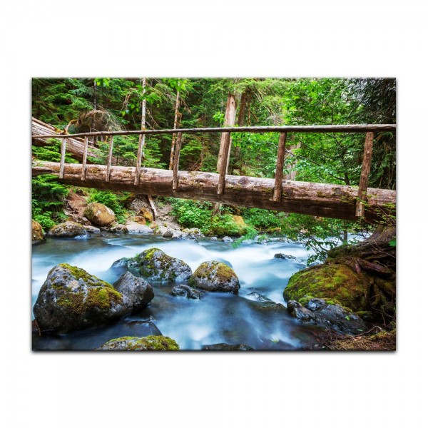 Leinwandbild - Waldfluss