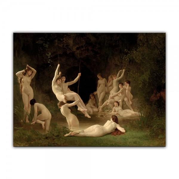 Leinwandbild - William-Adolphe Bouguereau - Nymphen