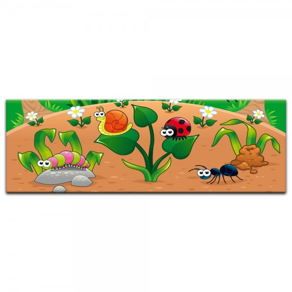 Leinwandbild - Kinderbild - Waldlichtung Cartoon