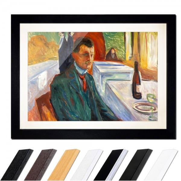 Edvard Munch - Selbstbildnis mit Weinflasche
