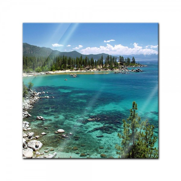 Glasbild - Lake Tahoe - Nevada USA