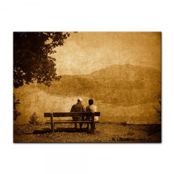 Leinwandbild - Vintage - Liebespaar