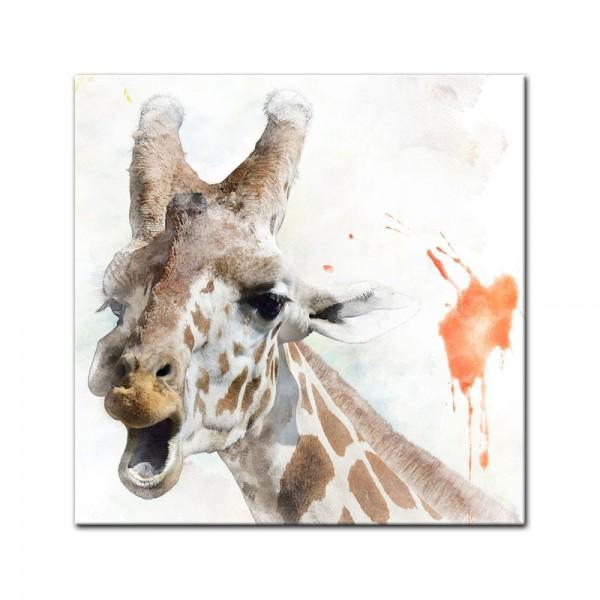 Leinwandbild - Aquarell - Giraffe II