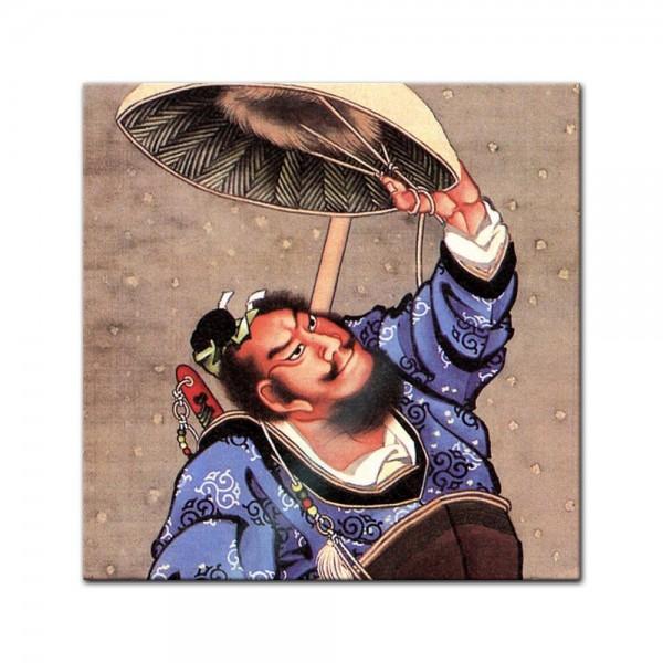 Glasbild Katsushika Hokusai - Alte Meister - Samurai