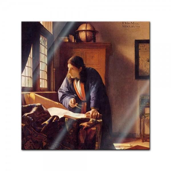 Glasbild Jan Vermeer - Alte Meister - Der Geograph