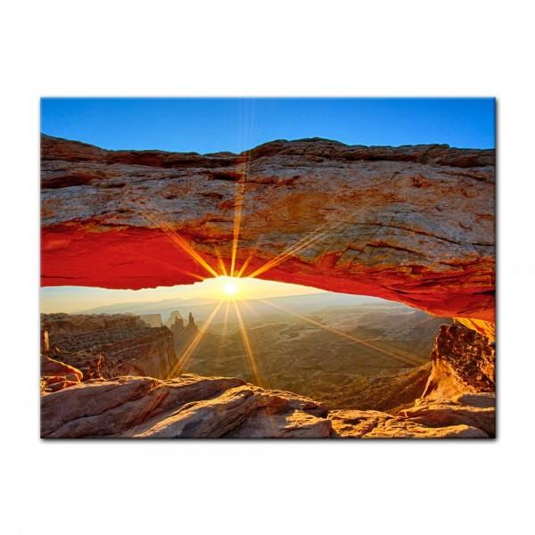 Leinwandbild - Sonnenaufgang im Arches-Nationalpark - Utah