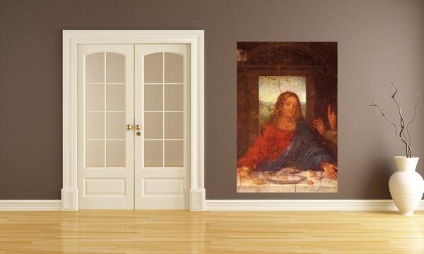 Fototapete Leonardo da Vinci - Alte Meister - Das Abendmahl - Jesus Detail