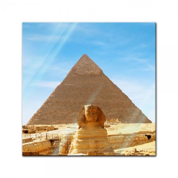 Glasbild - Ägypten Sphinx