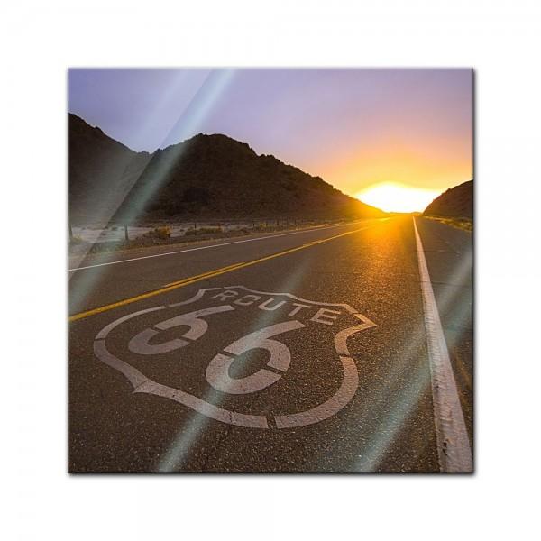 Glasbild - Route 66 - USA