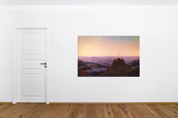 SALE Fototapete Caspar David Friedrich - Alte Meister - Morgen im Riesengebirge - 100 cm x 65 cm - f