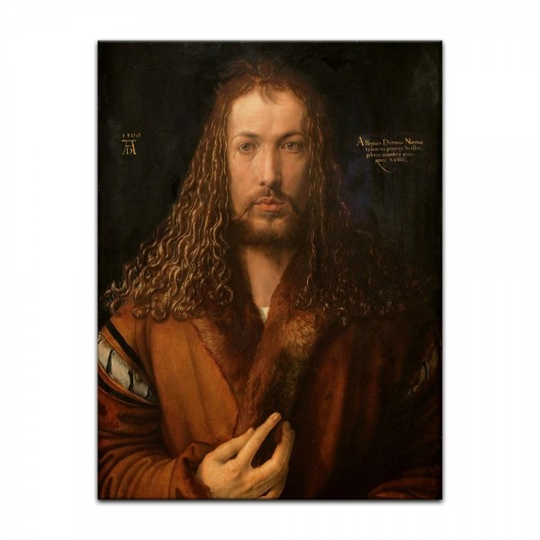Leinwandbild - Albrecht Dürer - Selbstbildnis im Pelzrock