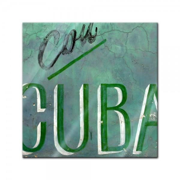 Glasbild - Cuba