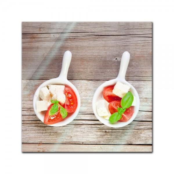 Glasbild - Italienischer Salat