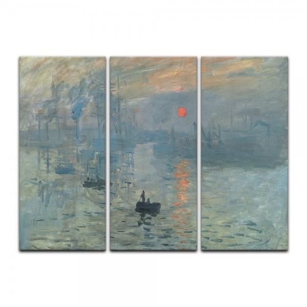 Leinwandbild - Claude Monet - Impression - Sonnenaufgang