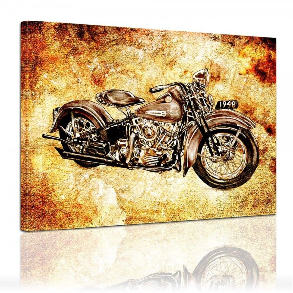 Leinwandbild - Motorrad Vintage