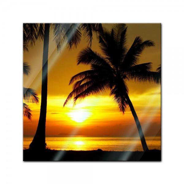 Glasbild - Sonnenuntergang in der Nähe des Äquators