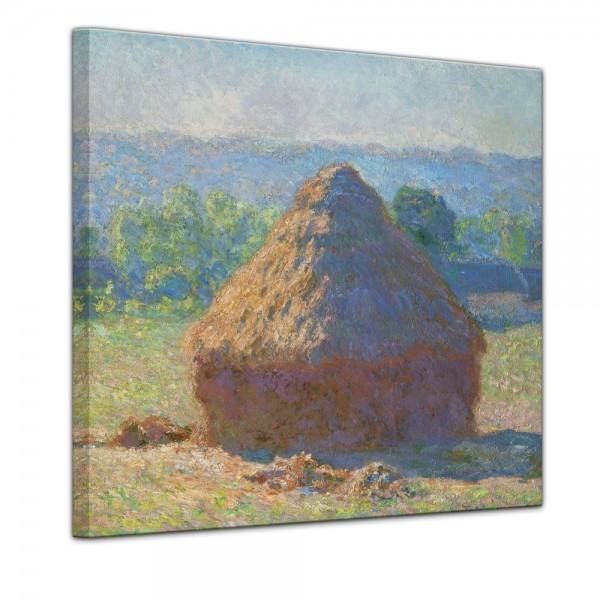 SALE Leinwandbild - Heuschober Ende des Sommers - 40x40 cm
