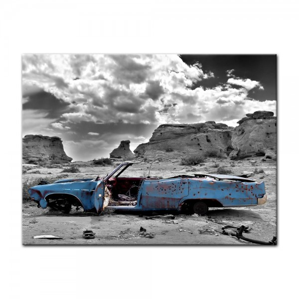 Leinwandbild - Cadillac - blau