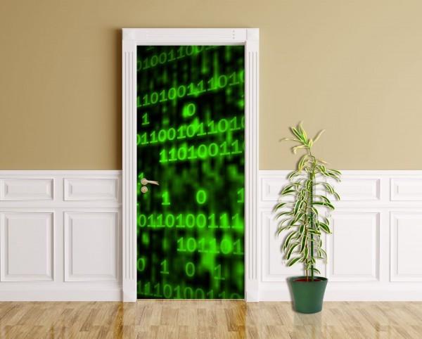 Türaufkleber - Matrix Code