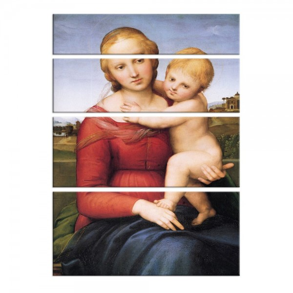 Leinwandbild - Raffael - Madonna mit Kind