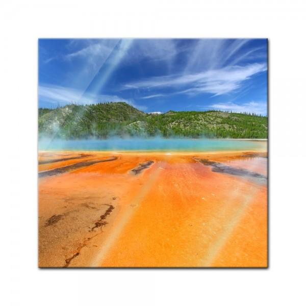 Glasbild - Grand Prismatic Spring Yellowstone