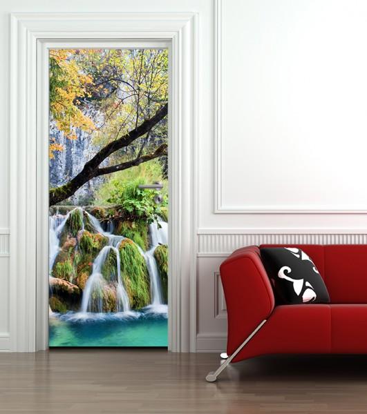 Türaufkleber Wasserfall im Lakes National Park - Kroatien