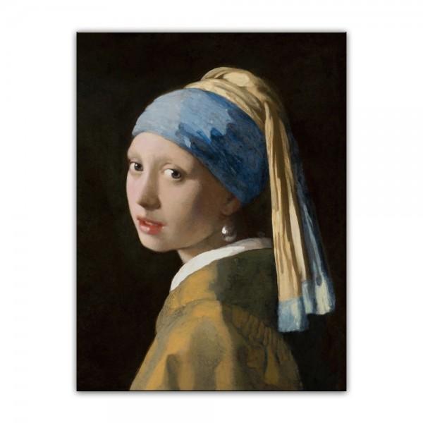 Leinwandbild - Jan Vermeer - Das Mädchen mit dem Perlenohrgehänge