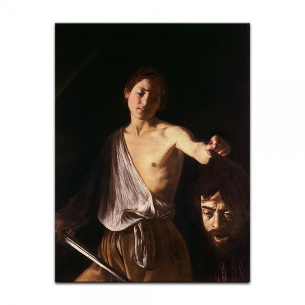 Leinwandbild - Caravaggio - David mit dem Haupt des Goliath
