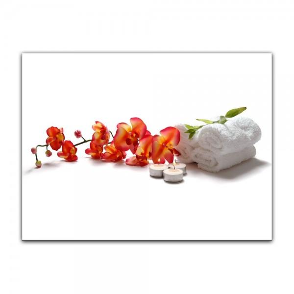 Leinwandbild - Orchidee - Spa