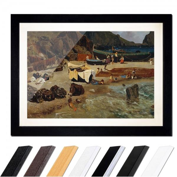 Albert Bierstadt - Fishing Boats at Capri - Fischerboote auf Capri