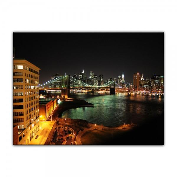 Leinwandbild - New York Skyline bei Nacht