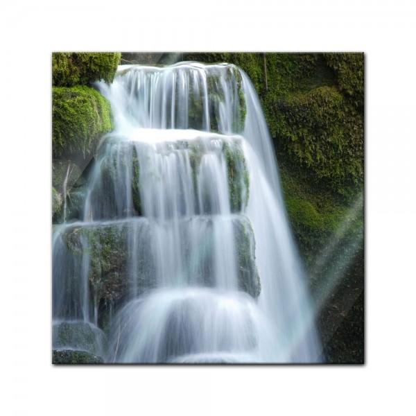 Glasbild - Wasserfall