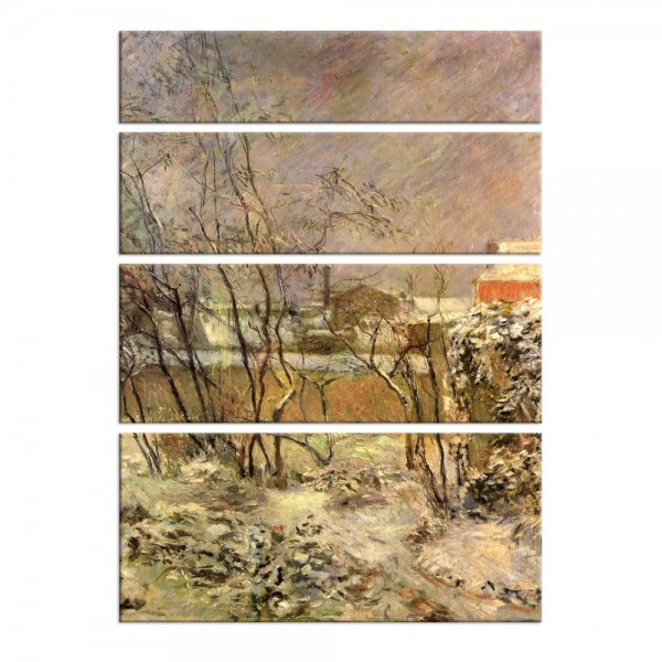 Leinwandbild - Paul Gauguin - Schnee in der Rue Carcel