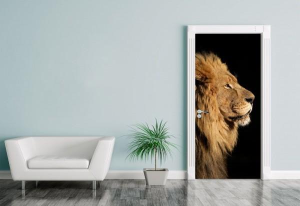 Türaufkleber großer afrikanischer Löwe