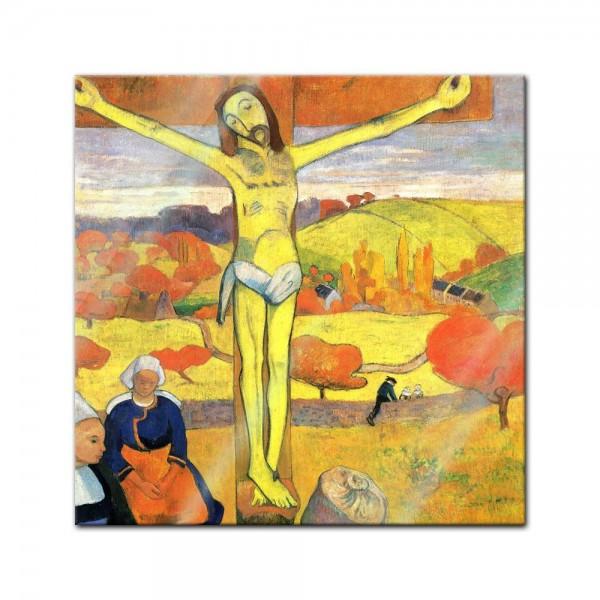 Glasbild Paul Gauguin - Alte Meister - Der gelbe Christus