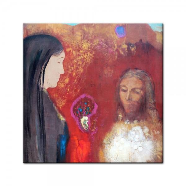 Leinwandbild - Odilon Redon - Christus und Samariterin