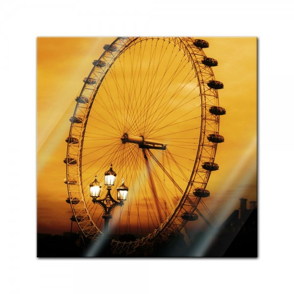 Glasbild - London Eye
