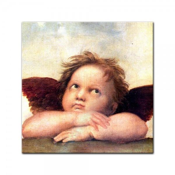 Glasbild Raffael - Alte Meister - Engel II - Detail Sixtinische Madonna