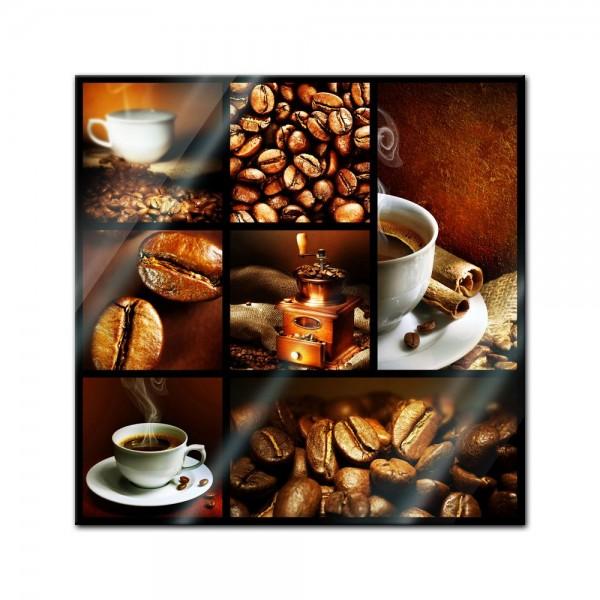 Glasbild - Kaffee Collage II