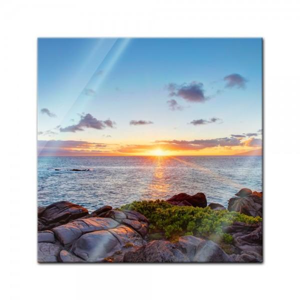 Glasbild - Küstenlinie Maui - Hawaii - USA