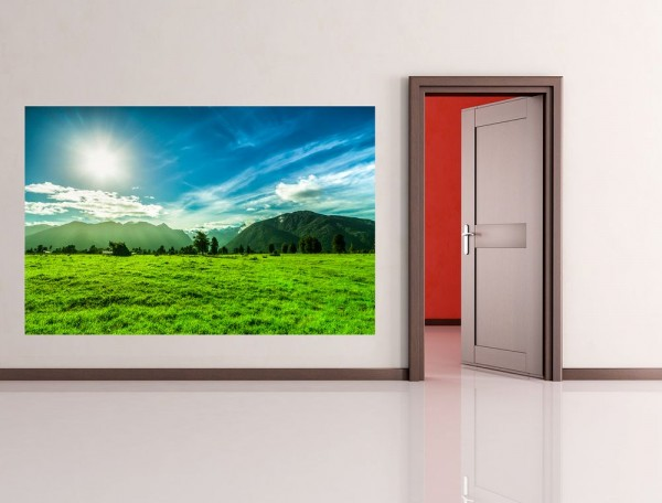 Fototapete - Grüne Landschaft in Neuseeland