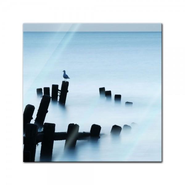 Glasbild - Moonlit Sea, Norfolk